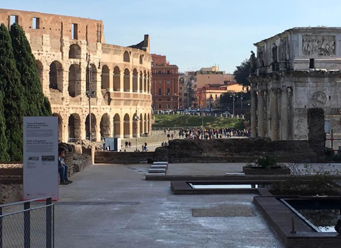 Sottofondo CentroStorico Calce per le Terme di Elagabalo a Roma