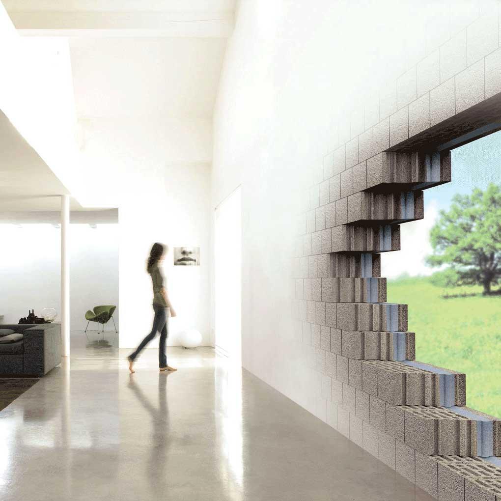 Blocchi in calcestruzzo alleggerito per murature
