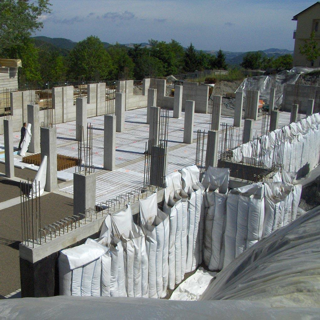 Pareti contro terra: isolamento e drenaggio