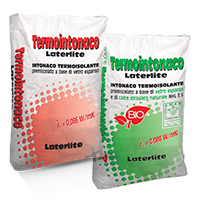 Termointonaco Laterlite: intonaco termico base calce o cemento