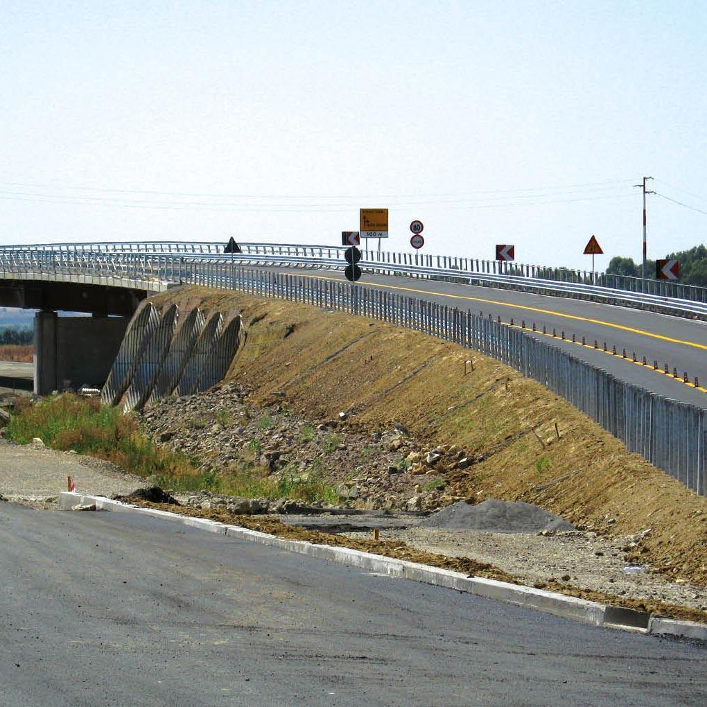 Spalla ponte, muri andatori e rampe d'allineamento